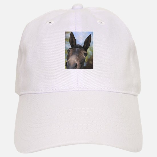 Brown Mule Art by Dawn Secord Baseball Cap