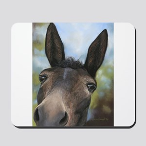 Brown Mule Art by Dawn Secord Mousepad