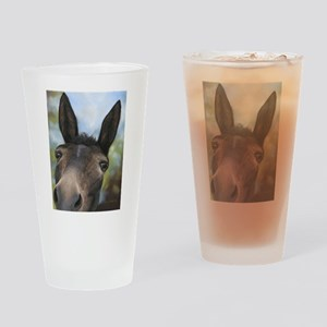 Brown Mule Art by Dawn Secord Drinking Glass
