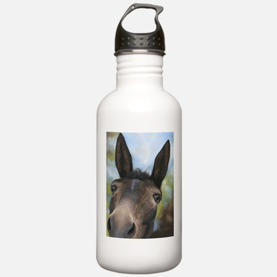 Brown Mule Art by Dawn Secord Water Bottle