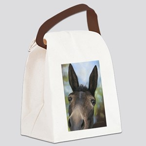 Brown Mule Art by Dawn Secord Canvas Lunch Bag
