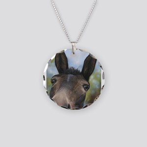 Brown Mule Art by Dawn Secord Necklace