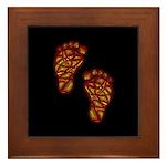 Tribal Toes Framed Tile