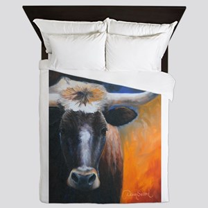 Long Horn by Dawn Secord Queen Duvet