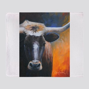 Long Horn by Dawn Secord Throw Blanket