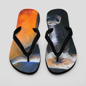 Long Horn by Dawn Secord Flip Flops