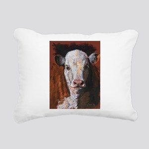 Hereford Calf by Dawn Secord Rectangular Canvas Pi