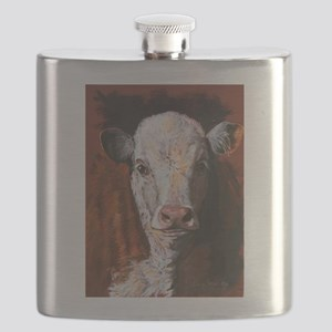 Hereford Calf by Dawn Secord Flask
