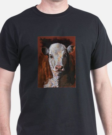 Hereford Calf by Dawn Secord T-Shirt