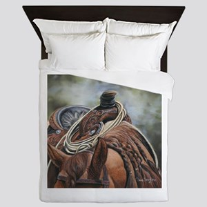 Roping Horse by Dawn Secord Queen Duvet
