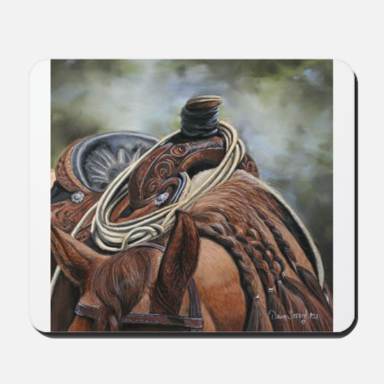 Roping Horse by Dawn Secord Mousepad