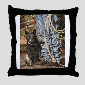 Australian Cattle Dog by Dawn Secord Throw Pillow