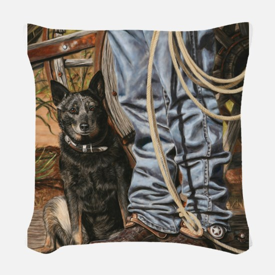 Australian Cattle Dog by Dawn Secord Woven Throw P