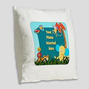 Jungle Cutouts Burlap Throw Pillow