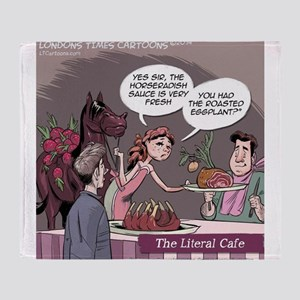 Literal Cafe Throw Blanket
