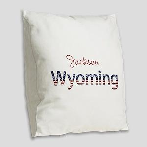 Custom Wyoming Burlap Throw Pillow