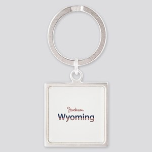 Custom Wyoming Square Keychain