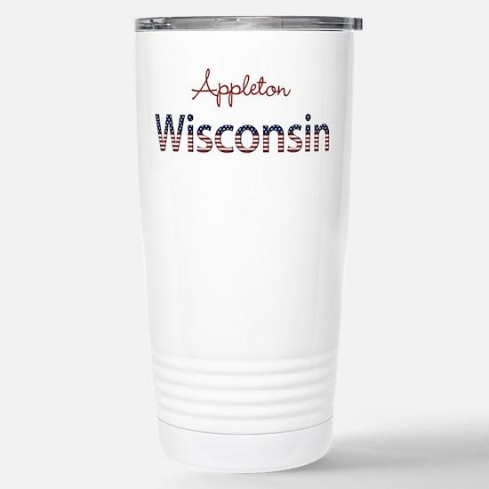 Custom Wisconsin Stainless Steel Travel Mug