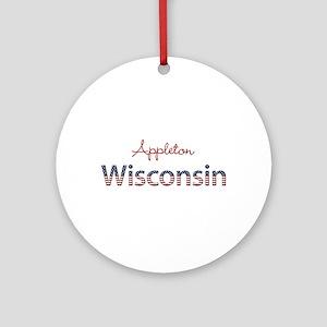 Custom Wisconsin Ornament (Round)