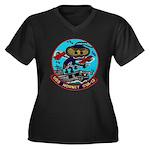 USS HORNET Women's Plus Size V-Neck Dark T-Shirt