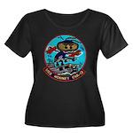 USS HORN Women's Plus Size Scoop Neck Dark T-Shirt