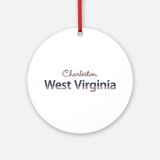 Custom West Virginia Ornament (Round)