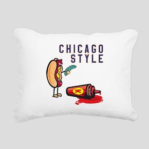 Chicago Style Rectangular Canvas Pillow