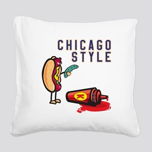 Chicago Style Square Canvas Pillow