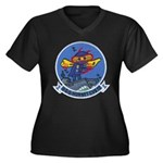 USS HORNET Women's Plus Size V-Neck Dark T-Shirt