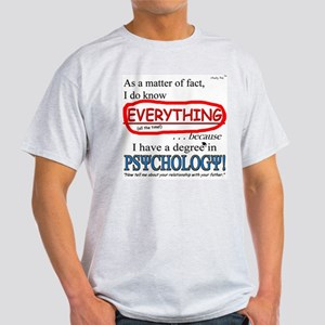 Psychology Degree Light T-Shirt