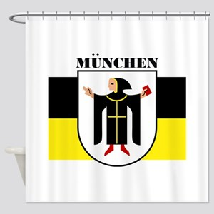 Munich (blk) Shower Curtain