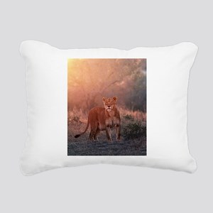 Searching for Cubs Rectangular Canvas Pillow