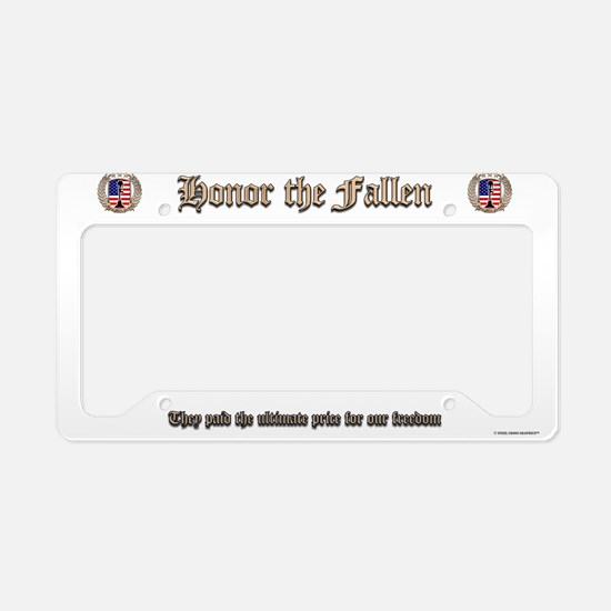 Honor the Fallen – Crest License Plate Holder