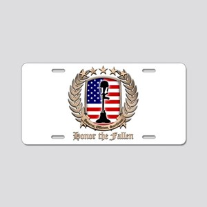 Honor the Fallen – Crest Aluminum License Plate