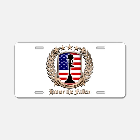 Honor the Fallen – Crest Aluminum License Plate