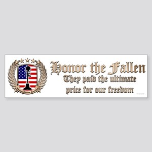 Honor the Fallen – Crest Bumper Sticker