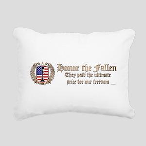 Honor the Fallen – Crest Rectangular Canvas Pillow