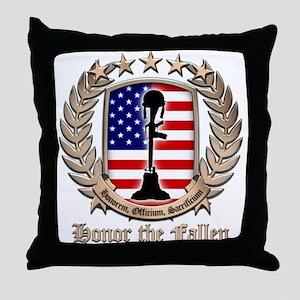 Honor the Fallen – Crest Throw Pillow