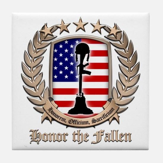 Honor the Fallen – Crest Tile Coaster