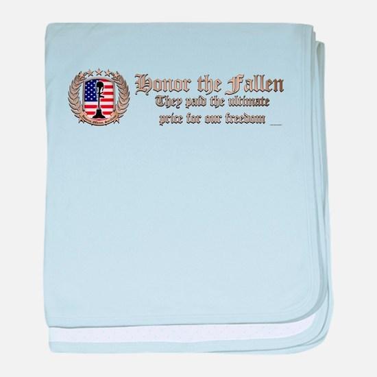 Honor the Fallen – Crest baby blanket