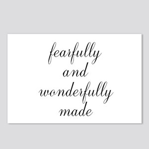 Fearfully and Wonderfully Made Script Postcards (P