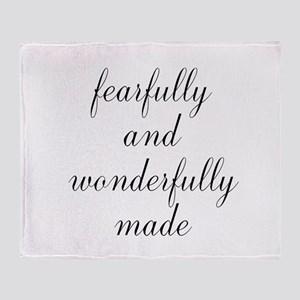 Fearfully and Wonderfully Made Script Throw Blanke