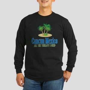 Cancun Mexico - Long Sleeve Dark T-Shirt