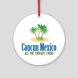 Cancun Mexico - Ornament (Round)