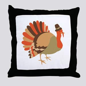 Thanksgiving Turkey Throw Pillow