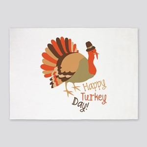 Happy Turkey Day! 5'x7'Area Rug