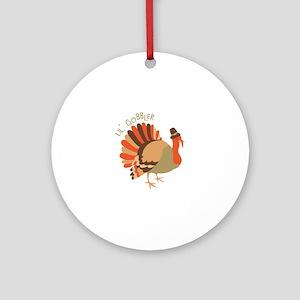 Lil' Gobbler Ornament (Round)