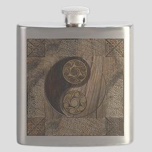 Harvest Moons Celtic Yin Yang Flask