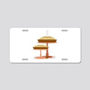 Two Pies Aluminum License Plate