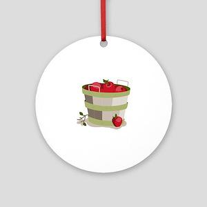 Apple Basket Ornament (Round)